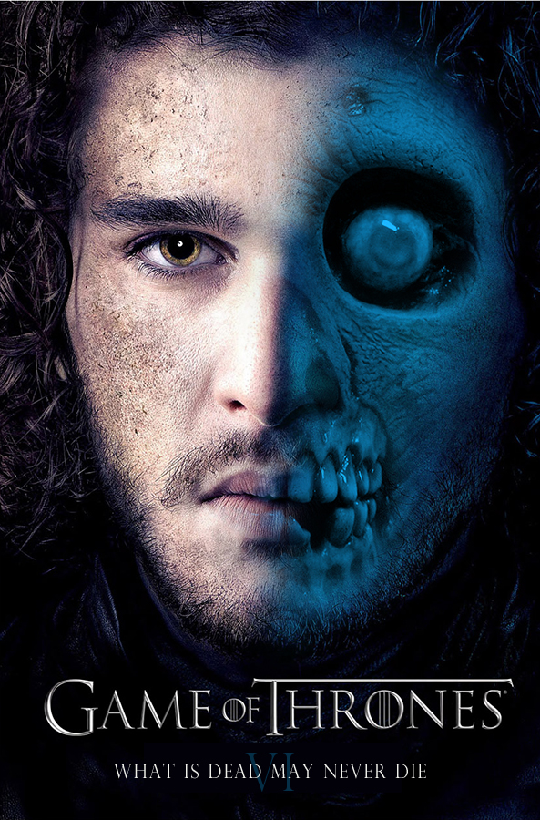 Jon Snow Zombie Poster