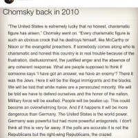 2010: Noam Chomsky 'Never Seen Anything Like This'