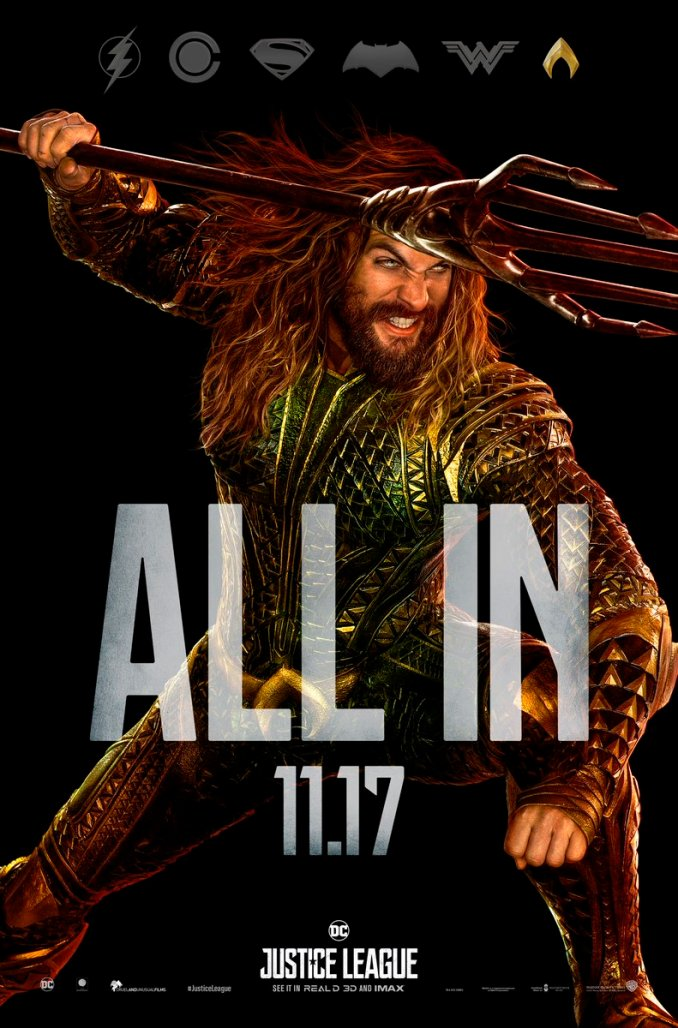 Jason Momoa ALL IN Aquaman poster