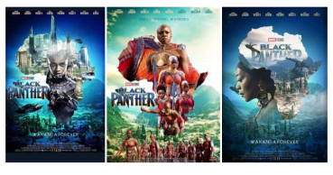 African #BlackPanther Character posters